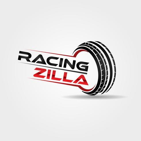 Automobile Racing Däcklogotyp vektor