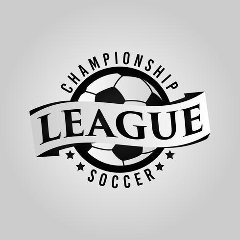 Fotbollslogotyp med banner vektor