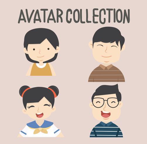 avatar verschiedene menschen eingestellt vektor