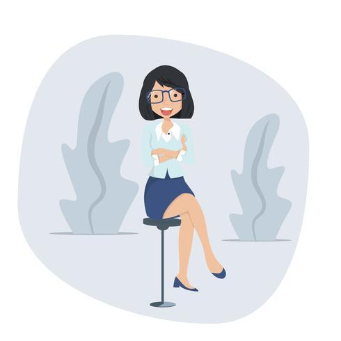 affärskvinna sittande stol koncept vektor