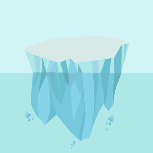 Nordpolig arktisk isbergbakgrund vektor