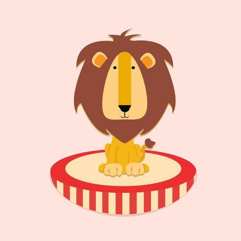 Cirkus Lion Illustration Barn vektor