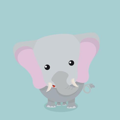 söt elefant baby vektor