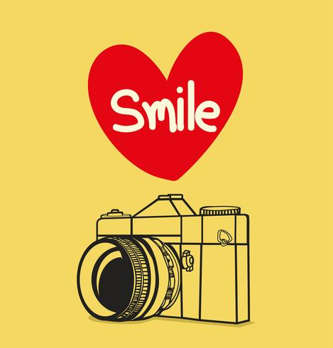 Retro Fotokamera mit Lächeln vektor