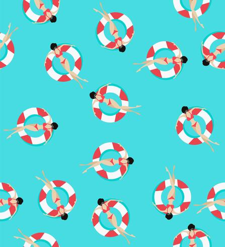 Schwimmringe Muster vektor