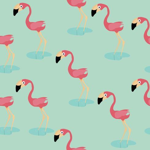 niedliches Flamingomuster vektor
