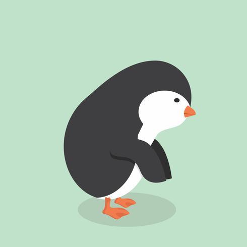 Söt pingvin tecknad vektor
