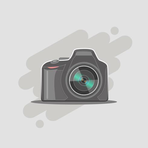 DSLR-Fotokamera mit Objektiv vektor