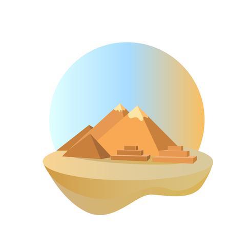 Stora pyramider i Giza, Egypten vektor