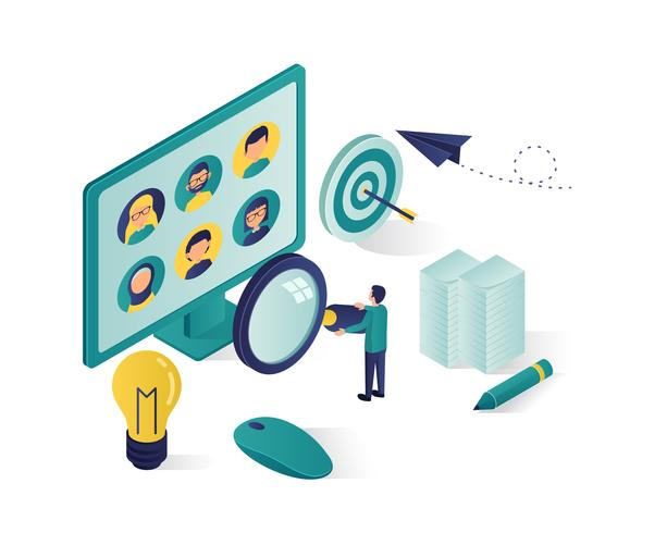 Suche nach Kandidat isometrische Darstellung vektor