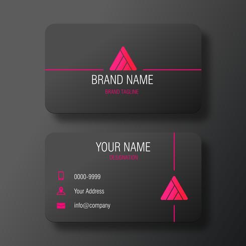 Svart elegant visitkort med vibrerande logotyp vektor