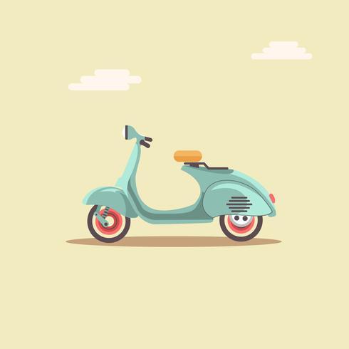 Klassisk retro stil Scooter vektor