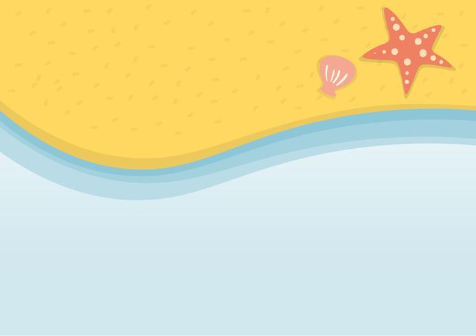 Sommer-Strandurlaubillustrationsvektor vektor