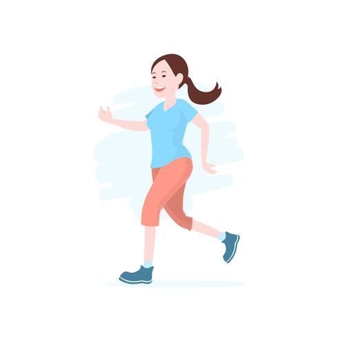 Frauen laufen, Joggen, Marathon während des Trainings im Freien. vektor