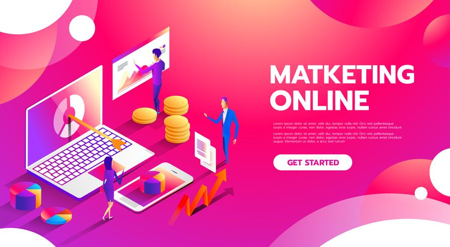 Online Marketing vektor