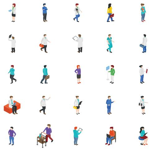 Professionella människor ikoner vektor