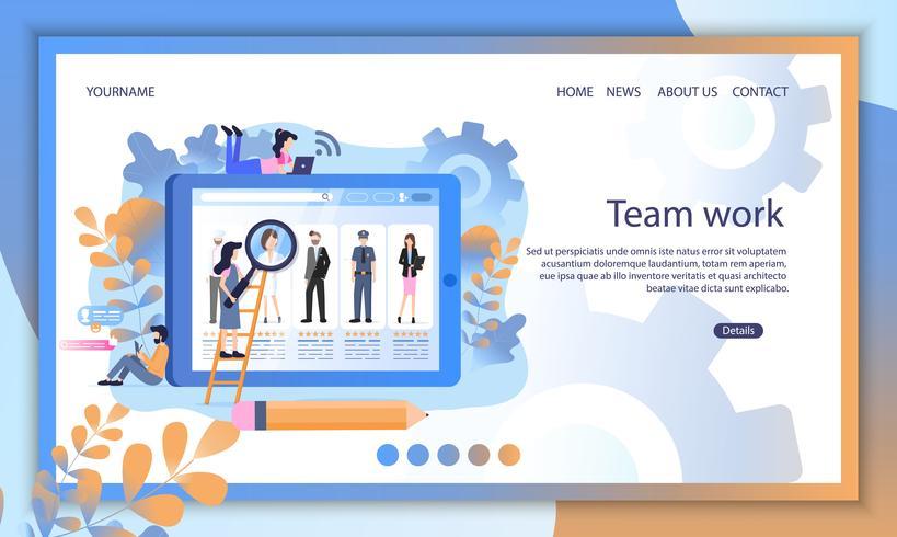 Social Media Lebenslauf Profil Rekrutensuche Online vektor