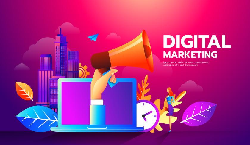 Digitales Marketing vektor