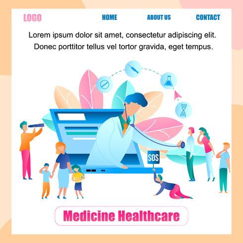 Illustrations-on-line-Doktor Survey Group People vektor
