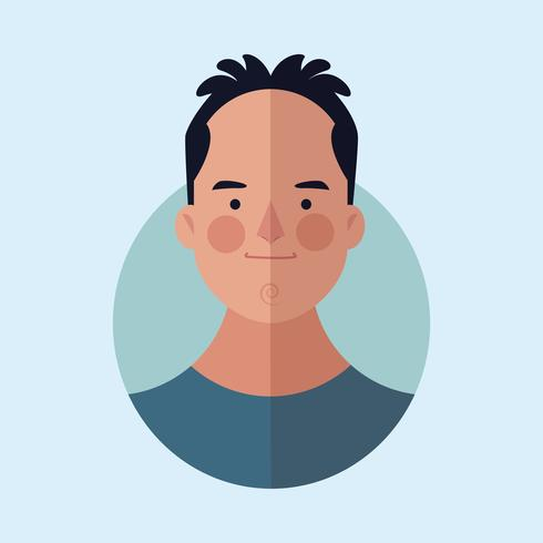 man ansikte tecknad vektor