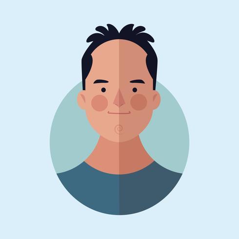 Mann Gesicht Cartoon vektor
