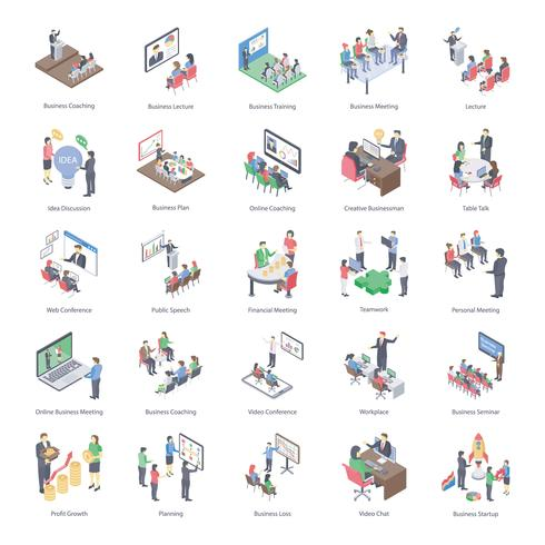 Business Coaching Icons Pack vektor