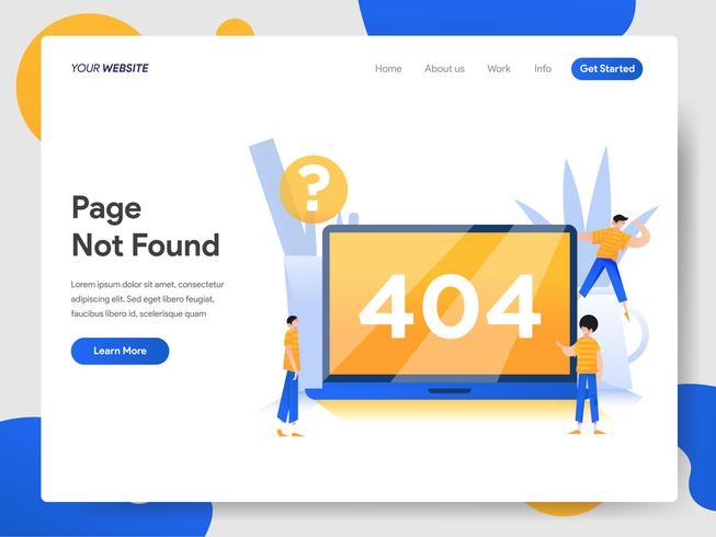 Zielseitenvorlage von 404 Seite nicht gefunden vektor