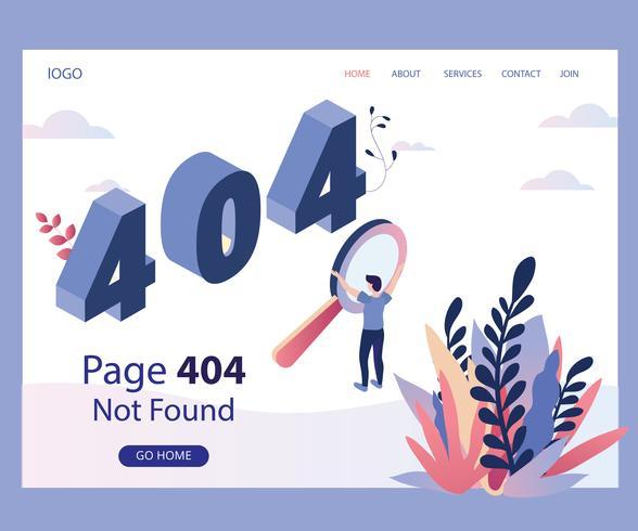 Seite 404 nicht gefunden vektor