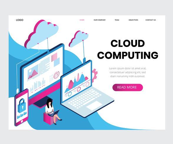 Cloud Computing isometrisk vektor