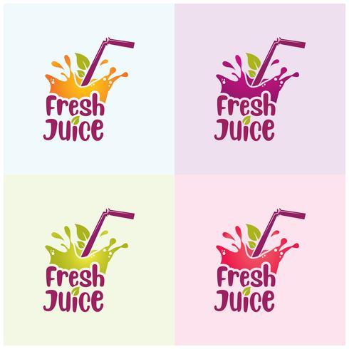 stänk färsk juice design vektor