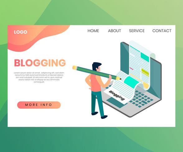 Blogging-Webseite vektor