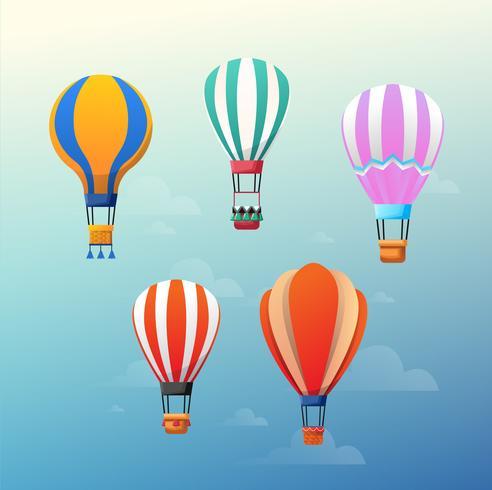 Färgglada luftballonger vektor