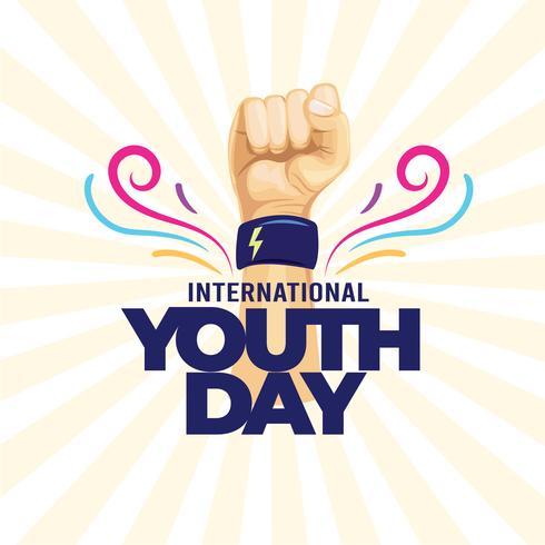 Internationaler Jugendtag vektor