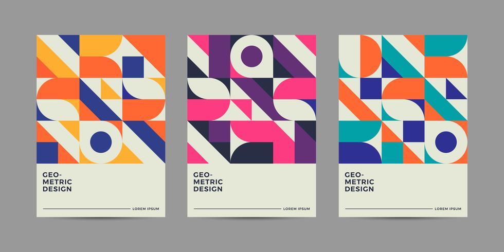 Retro 90er Jahre Cover Design vektor