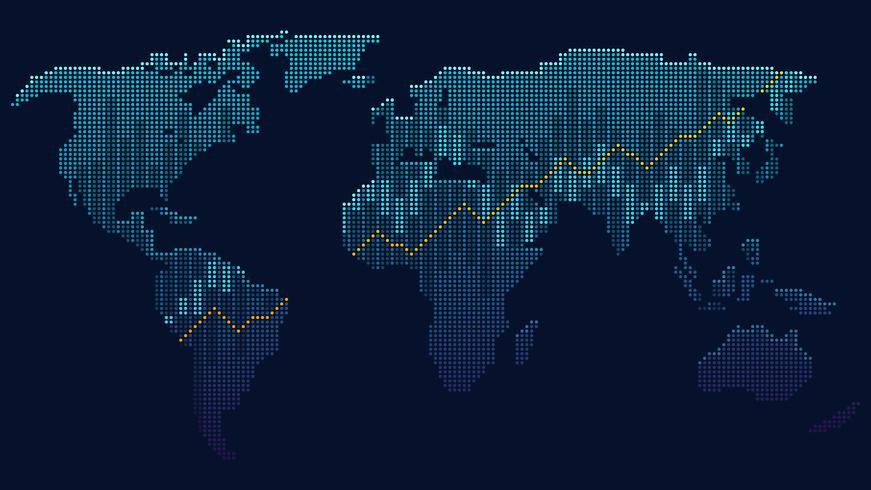 Globales Netzwerk vektor