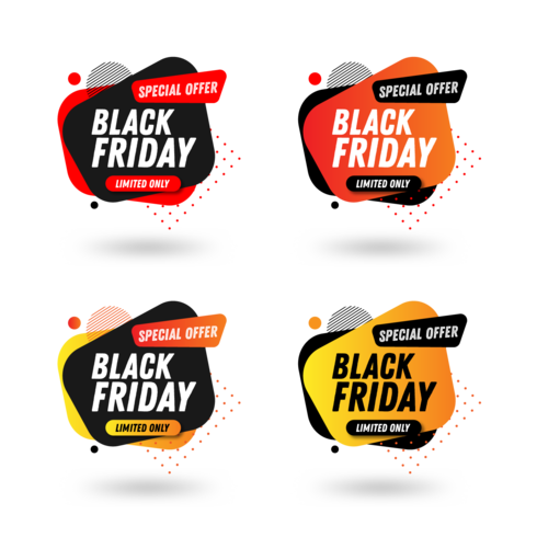 Black Friday Sales Banner Pack Entwurfsvorlage vektor