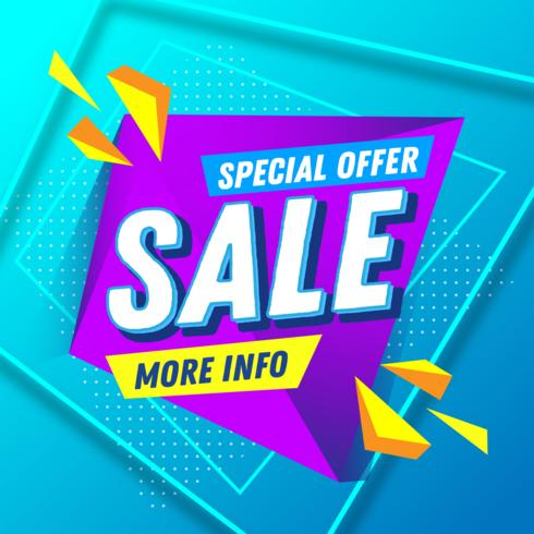 Specialerbjudande försäljning banner vektor