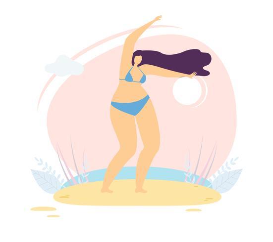 Positiv kroppsposition för kvinna vektor
