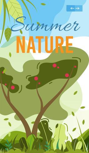 Summer Nature Mobile Cover eller affischmall vektor