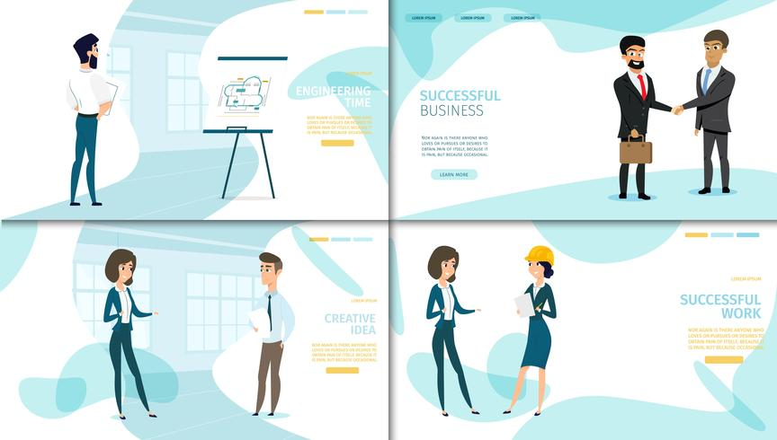 Business Company Landing Page-Auflistung vektor