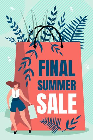 Inskription Final Summer Sale vektor