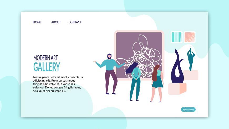 Landing Page Presentation Art Gallery-Website vektor