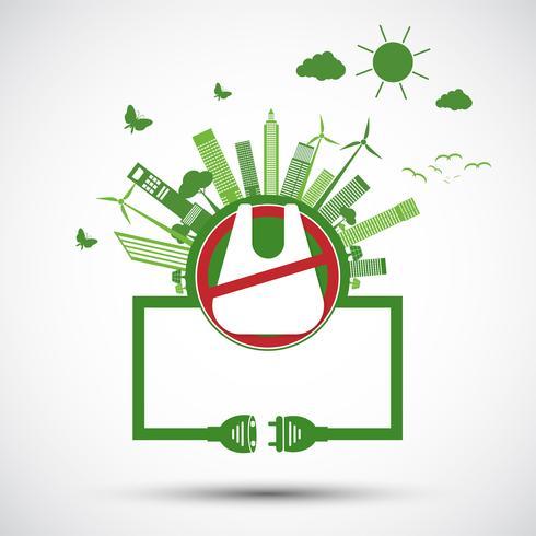 Ökologie und Umwelt retten Weltkonzept vektor