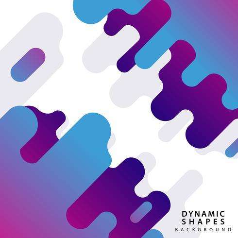 Grafischer dynamischer Formarthintergrund. vektor