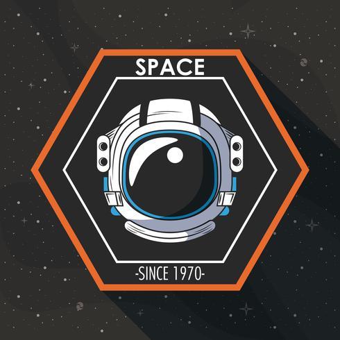 Rymdutforskaren patch emblem design vektor