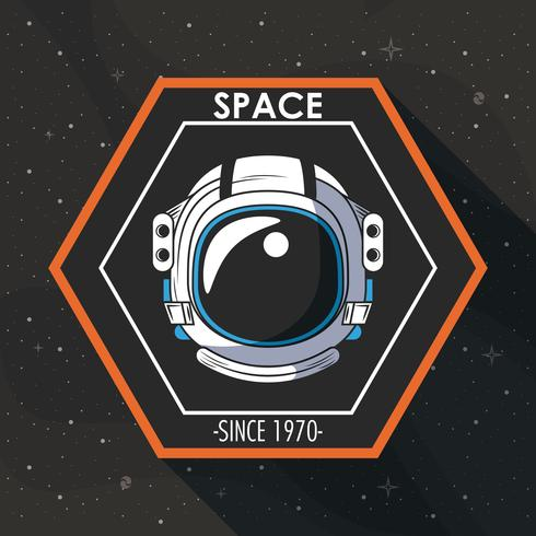 Space Explorer Patch Emblem Design vektor
