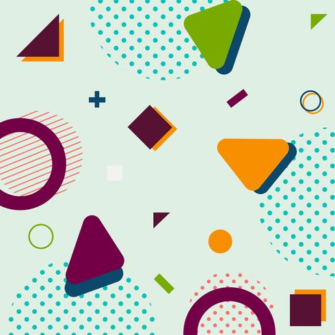 Moderner modischer geometrischer Formmemphis-Hippie-Hintergrund vektor