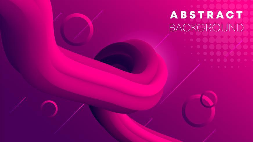 Rosa flytande lutningsfärgbakgrund, vätskegradient vektor