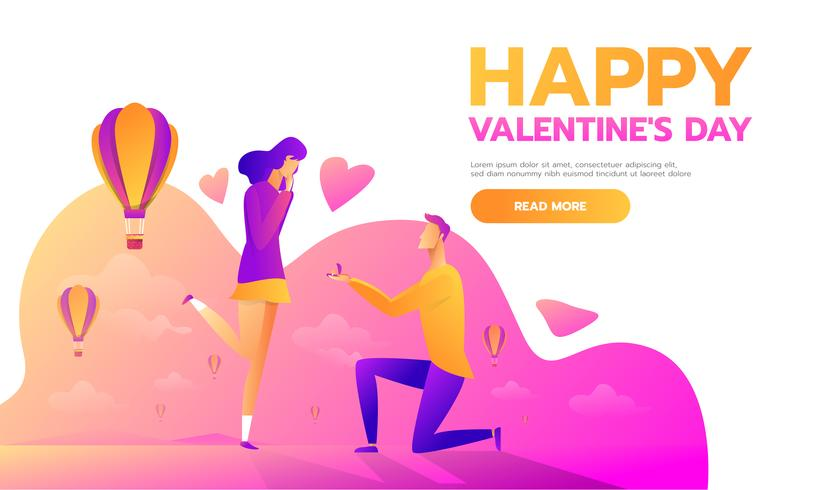 Valentinstag Vorlage vektor