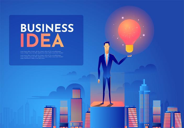 Führungs- und Ideenkonzept vektor